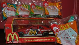 NASCAR Monopoly McDonalds Hot Wheels Ronald McDonald Dark Rider