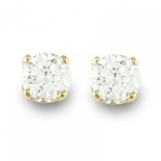 Natural 0 50 CTW Diamond Stud Earrings 14k Yellow Gold