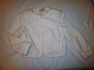 Elizabeth and James Cream Raw Edge Structured Jacket So Coco XS