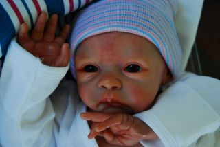 BABY BOY DOLL PAIGE KIT NOW ADORABLE ETHAN JAMES CHUBBY CHEEKS NURSERY