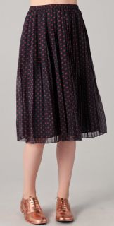Madewell Judy Polka Dot Long Skirt