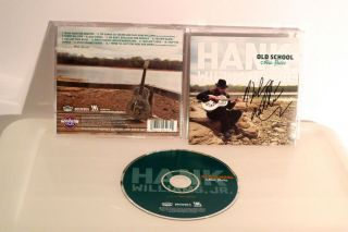 HANK WILLIAMS Jr. Autographed CD Old School New Rules Bocephus