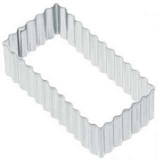 Fluted Oblong Rectangle Biscuit Cookie Pastry Cutter