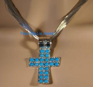 Jay King Sleeping Beauty Turquoise Cross Pendant