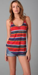 PJK Patterson J. Kincaid Tribal Stripe Temple Tank