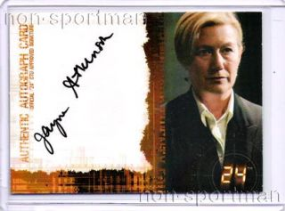 24 Twenty Four Season 5 Jayne Atkinson Autograph