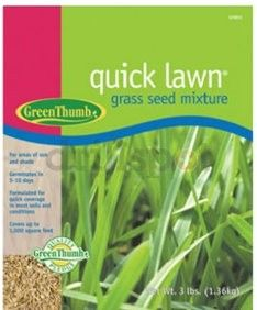 Green Thumb Grass Seed Quick Lawn 3 Lbs
