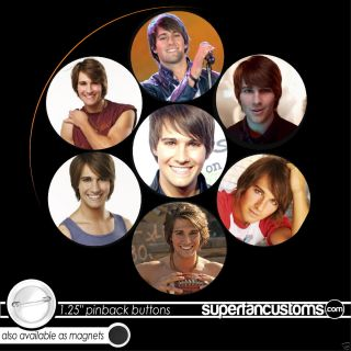 James Maslow Set of 7 Buttons Big Time Rush Pins 1450