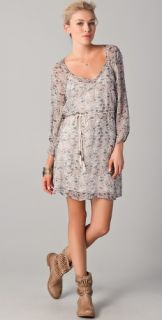 Ella Moss Desert Bloom Patterned Chiffon Dress