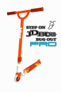JD BUG PRO SPORT SCOOTER MS108 ORANGE STREET JUMP TRICK MICRO SCOOTER
