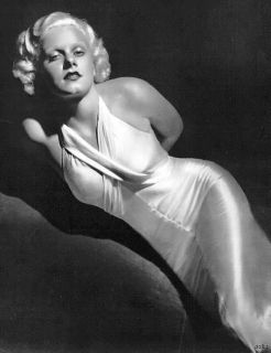 Jean Harlow Bias Cut High Gloss Liquid Satin Slippery Nightgown