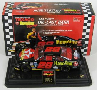 1995 Dale Jarrett Texaco Stock Car 1 24 Display Stand Original