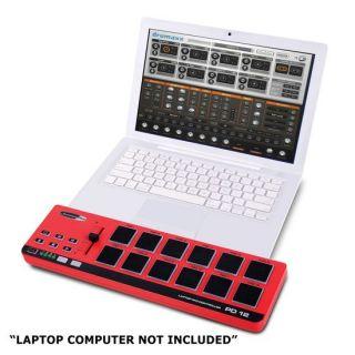 Jammin Pro PD 12 Laptop USB/MIDI Pad Controller w/ Pad Velocity Curve