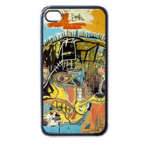 Jean Michel Basquiat Ar2 Plastic Case For Iphone 4 4s Black New Gift