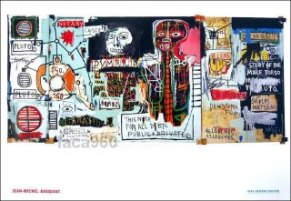Jean Michel Basquiat African American Graffiti Art Notary Poster