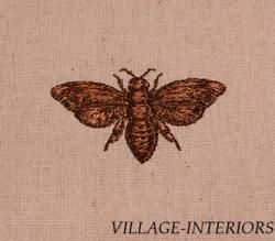 Ballard Entomology Embroidery Bee Design Linen Cotton Accent 17 Throw