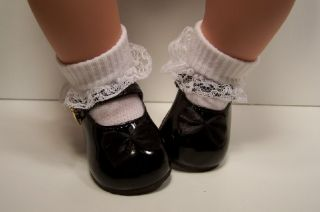 Black Patent Mary Jane Doll Shoes for Lee Middleton Toddler♥