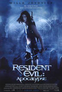 Resident Evil Apocalypse Movie Poster B 27x40 Milla Jovovich Sienna
