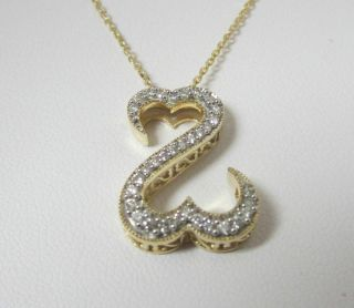 Jane Seymour Kays 14kt Yellow Gold Open Hearts Diamond Necklace