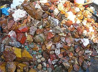 25 lbs Very Nice Southern CA Agates Jaspers ect Mixed Lot