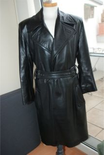 Jean Paul Gaultier Black Leather Coat Very Sexy