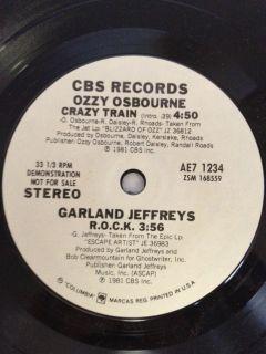Ozzy Osbourne Hawks Garland Jeffreys Judas Priest Demo Vinyl Record