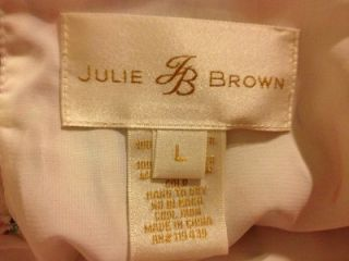 IN BACK; LINED; HALTER BLOUSE BY JB BY JULIE BROWN; SIZE LARGE