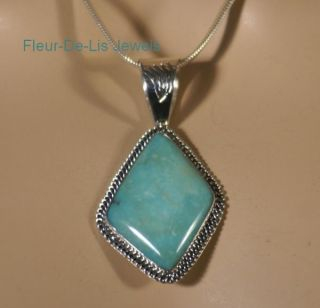 Jay King Mine Finds Campitos Turquoise Sterling Silver Pendant RARE