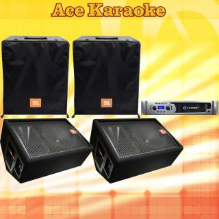 JBL JRX112M 12 Speakers + Crown XLS2500 Amplifier Sysem wih Speaker