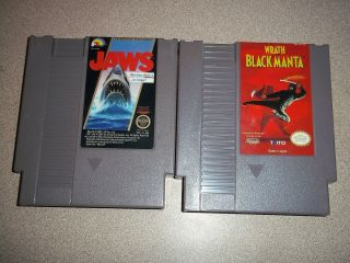 Jaws Wrath of The Black Manta NES Nintendo Game Lot