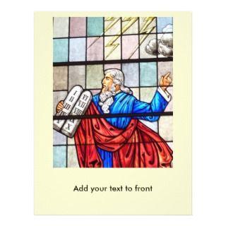 Moses and Ten Commandments Christian Flyer