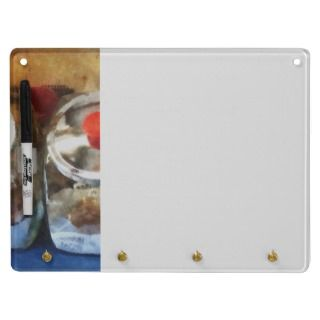 Two Glass Cookie Jars Dry Erase Board