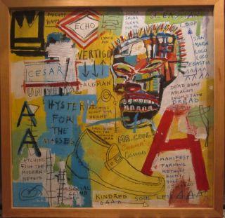 Jean Michel Basquiat Painting on Board $250