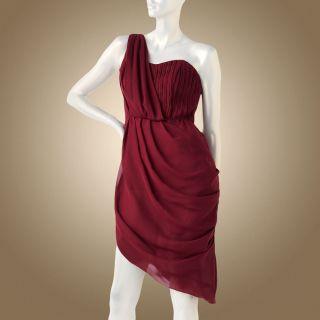 Jennifer Lopez Asymmetrical Chiffon Dress Size 6