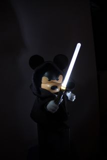 Vinylmation Disney Star Wars Jedi Mickey Custom by Evilos Lights Up