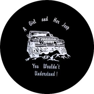 Girl and Her Jeep Spare Tire Cover for A Jeeps