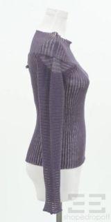 Jean Paul Gaultier Maille Dark Purple Linen Rib Knit Long Sleeve