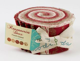 French General Rouenneries Deux Jelly Roll 2 5 Fabric Quilting Strips