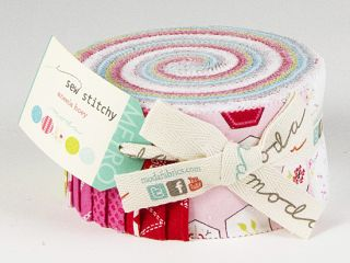 Aneela Hoey Sew Stitchy Jelly Roll 2 5 Fabric Quilting Strips Moda