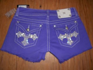 Miss Me Purple Jean Shorts New