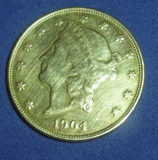 1904 US Liberty $20 Dollar Double Eagle Gold Coin