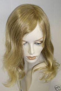 Jacquelyn Wig Human Hair Blend Jennie 525 Blonde Mix Monotop Long Sexy