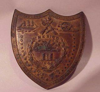 American War Veterans Shield AJ Byrd Texas Solider 3rd Dragoon 6th Inf