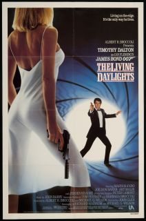 The Living Daylights 1987 Original U s One Sheet Movie Poster
