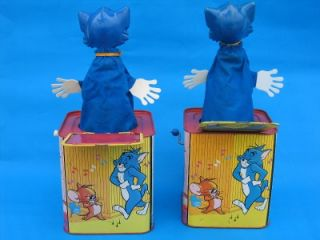TOM & JERRY VINTAGE 1960s BURBANK TOYS MATTEL WIND UP JACK IN THE