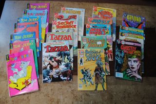 Lot Vintage Comic Books Charlton Drag N Wheels Tom Jerry Yang