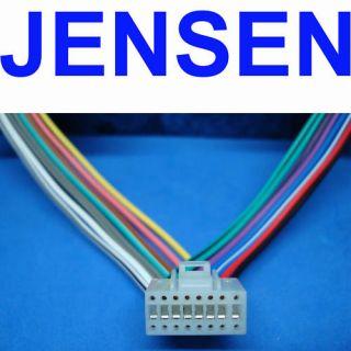 JENSEN DVD Wire Harness VM9212 VM9312HHD VM9412 VM9512 on