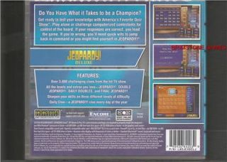 JEOPARDY DELUXE (PC & Mac Games) * BRAND NEW & SEALED * XP * VISTA * 7