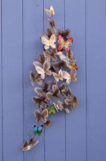Curtis C Jere Butterfly Sculpture Metal Wall Art Mid Century Modern