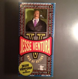 Jesse Ventura Doll Navy Governor Wrestler Action Figure New Minnesota